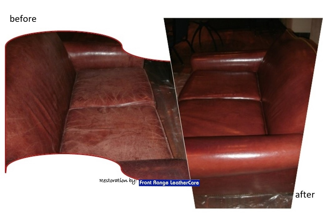 Recondition Leather Sofa Cognac Color Leather Furniture