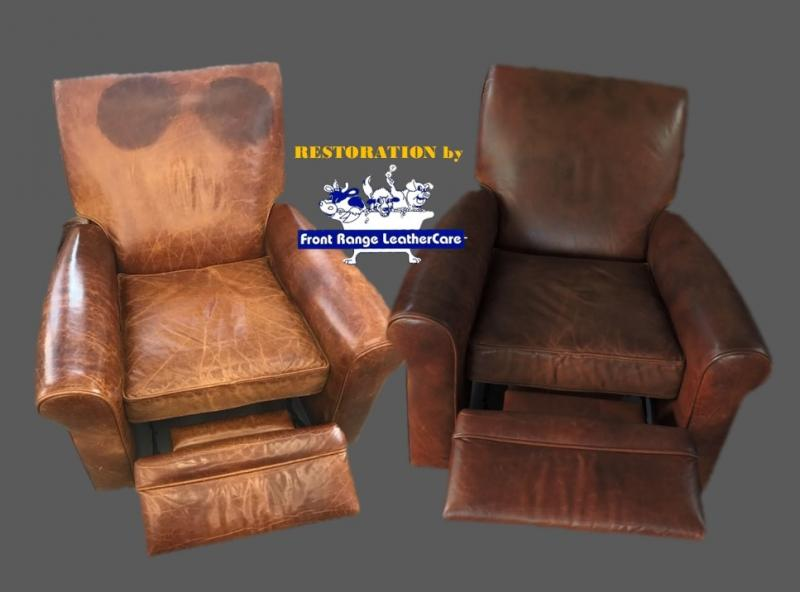 Leather Restoration and Removal of Head and Oil Stains