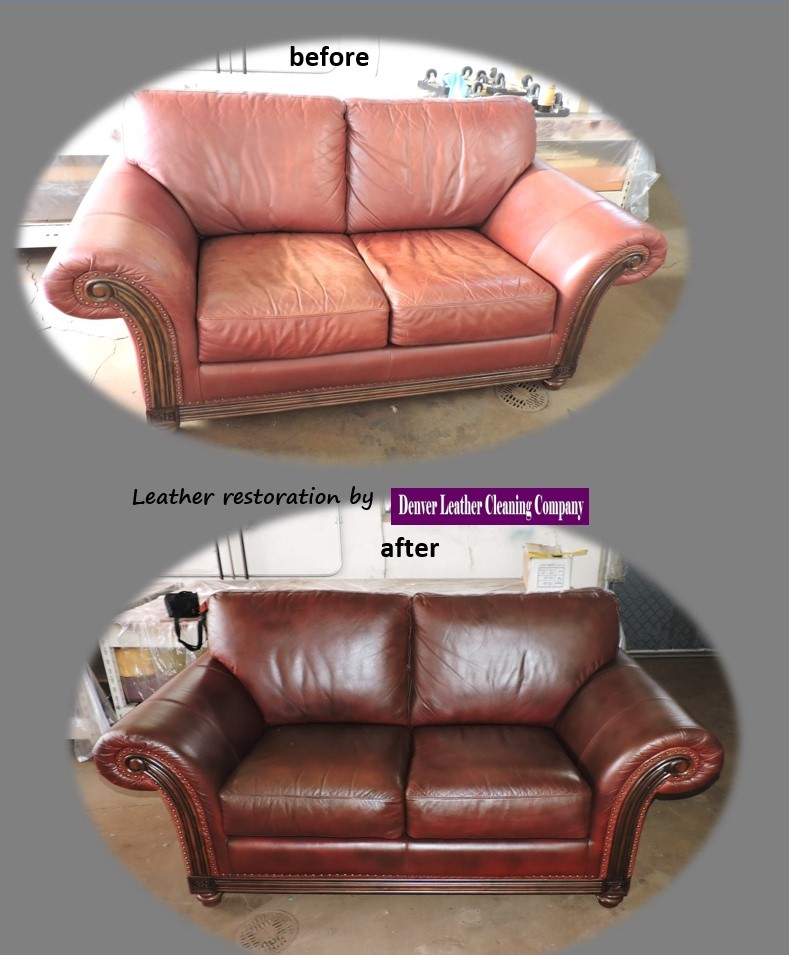 TOTAL APPAREL CARE Denver Leather Furniture Restoration Before And After As