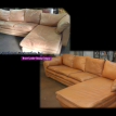 leather secional furniture restoration in Castle Pines